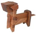 Wooden Dog Kumiki Puzzle