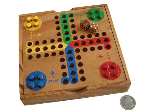 Wooden Game - Ludo (Parchesi, Aggrevation)